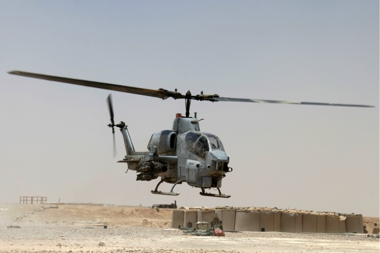 United States Marine Corps AH-1W Super Cobra Helicopter
