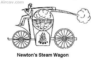 Drawing: Newton's Steam Wangon